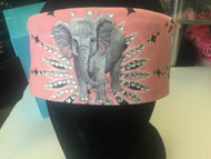 Bandana, Elephant Light Pink Thin Forehead FREE SHIPPING