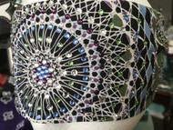 Bandana, Multi Kaleidoscope Lt. Blue Center FREE SHIPPING