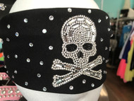 Bandana, Skull Bling Bling on Black FREE SHIPPING