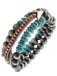Bracelet, Arrow Stackable Coppertone