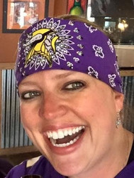 Bandana, Vikings Football with Swarovski crystals. Motorcycle bandana