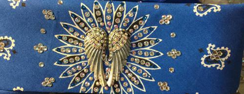 Bandana, Angel Wings and Swarovski crystals