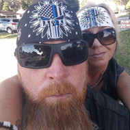 Bandana, Thin Blue Line Punisher White, Donating $3