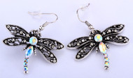 Earrings, Dragonfly Clear