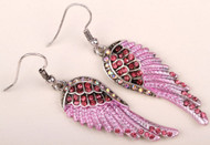 Earrings, pink angel wing with sassy rhinestones, check out all the different colors of angel wing jewelry from Go Brazen.  Grab the motorcycle bandana and matching jewelry too.  Shop on line or stop by their store in Red Wing, Minnesota