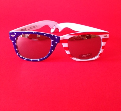 Flag Bottle Opener Sunglasses