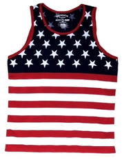 American Flag Stars and Stripes Mens Tank Top by Exist