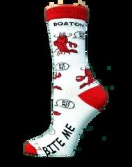 Bite Me Boston Lobster crew Socks by For Bare Feet