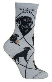 Black Lab Socks in Gray by Wheel House Designs