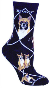 Boxer Socks in Black by Wheel House Designs