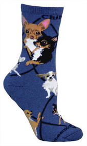 Chihuahua Socks in Blue by Wheel House Designs