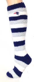 New England Patriots Sleep Soft Knee High fuzzy socks with team logo