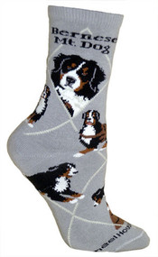 Bernese Mountain Dog Socks by Wheel House Designs - Gray