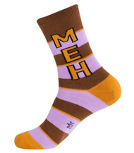MEH Unisex dress crew socks by Gumball Poodle
