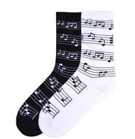 Musical Notes Socks by K. Bell
