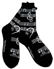 Musical notes socks for men by Foot Traffic