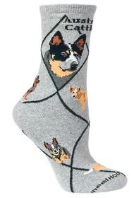 Australian Cattle Dog Socks by Wheel House Designs