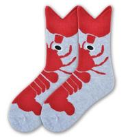 Wide Mouth Lobster Socks for women by K.Bell