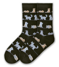 Cat Socks on black by K. Bell