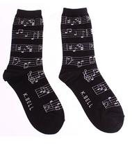 Musical notes socks for women by K. Bell