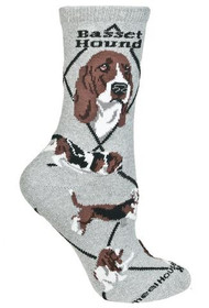 Basset Hound Socks by Wheel House Designs