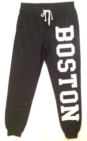 Boston Joggers by Exist in charcoal grey with white logo