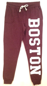 Boston joggers in maroon with white logo