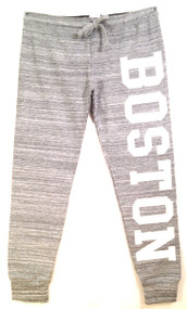 Boston joggers in heather gray and white
