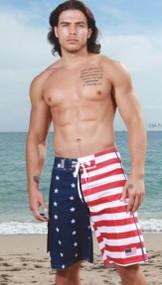 American Flag Swim Shorts