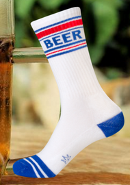 Beer Ribbed Gym Socks by Gumball Poodle