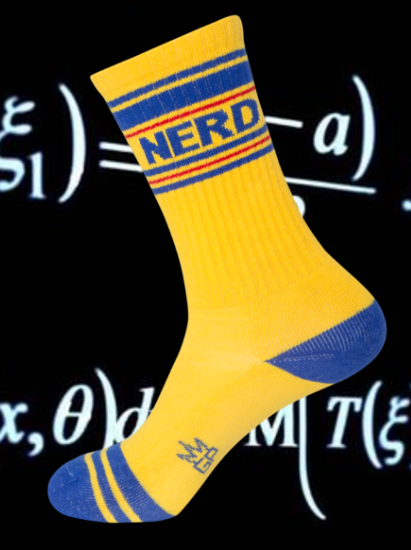 NERD Gym Socks by Gumball Poodle