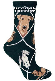 Airedale Terrier Socks by Wheel House Designs