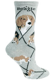 Beagle Socks in Gray by Wheel House Designs