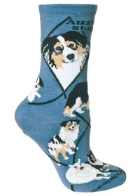 Australian Shepherd socks by Wheel House Designs