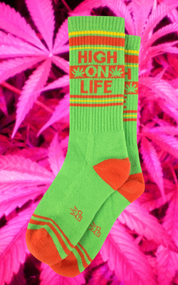 High on Life socks by Gumball Poodle