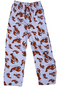 Cotton Pajama Pants with Red Lobsters all over by Lazy One with elastic waistband