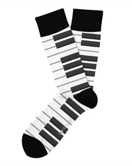 Piano Keys Jam Session Socks by Two Left Feet Sock Co.