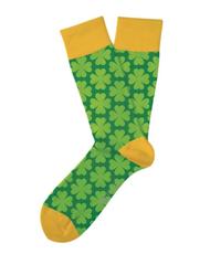 Lucky Shamrock Socks by Two Left Feet Sock Co.