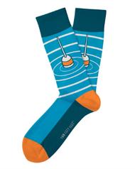 Gone Fishin' Socks by Two Left Feet Co.