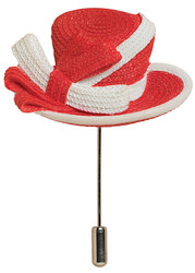 Women in Red Hat Pin - Harriet Rosebud