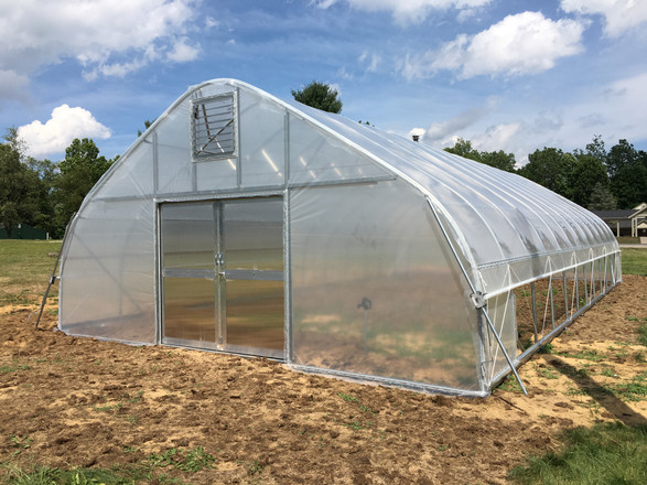 Bittersweet Farms in Whitehouse, Ohio adds a 24 ft. x 48 ft. High Tunnel Hoop House to Their Farm