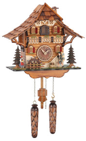Black Forest Quartz Cuckoo Clock with Millwheel