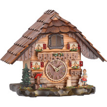 German Quartz Tabletop Cuckoo Clock with Cuckoo and Music