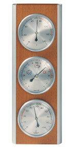 Hokco Weather Station Wood Aluminum Cherry