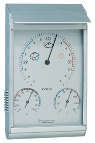 Analog Weather Station Aluminum Android Barometer Hygrometer Hokco
