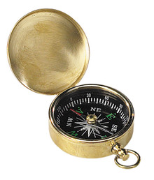 Pocket Compass Brass CO002