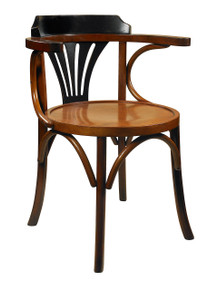 Navy Chair, Black/Honey