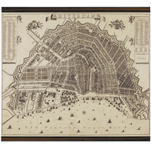 Giclée Wall Map Amsterdam from 1737 MC809