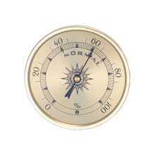 Analog Hygrometer 1.75 in. Gold Metal Bezel