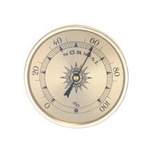 Analog Hygrometer 1.75 in. Gold Metal Bezel